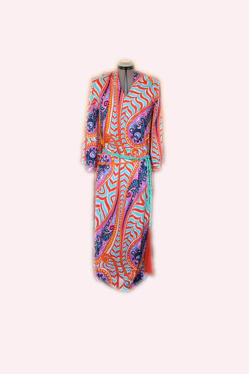 Original hippy dress, psychedelic ritual robe, ethical clothing, recycling, rare vintage clothes