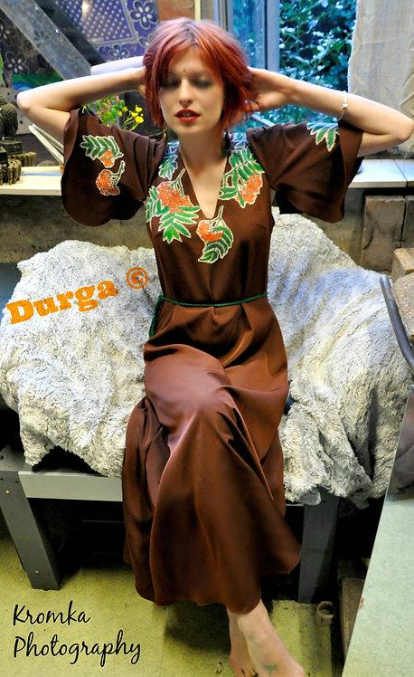 Handpainted Rowan Berry Maxi Dress