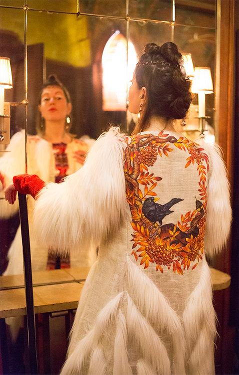 Durga Universe, Art Haute Couture, Majestic Handcrafted Hemp Coat