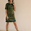 Durga Universe, one of a kind green mini dress, organic silk, ethical clothing, ethical luxury, handmade women's clothing