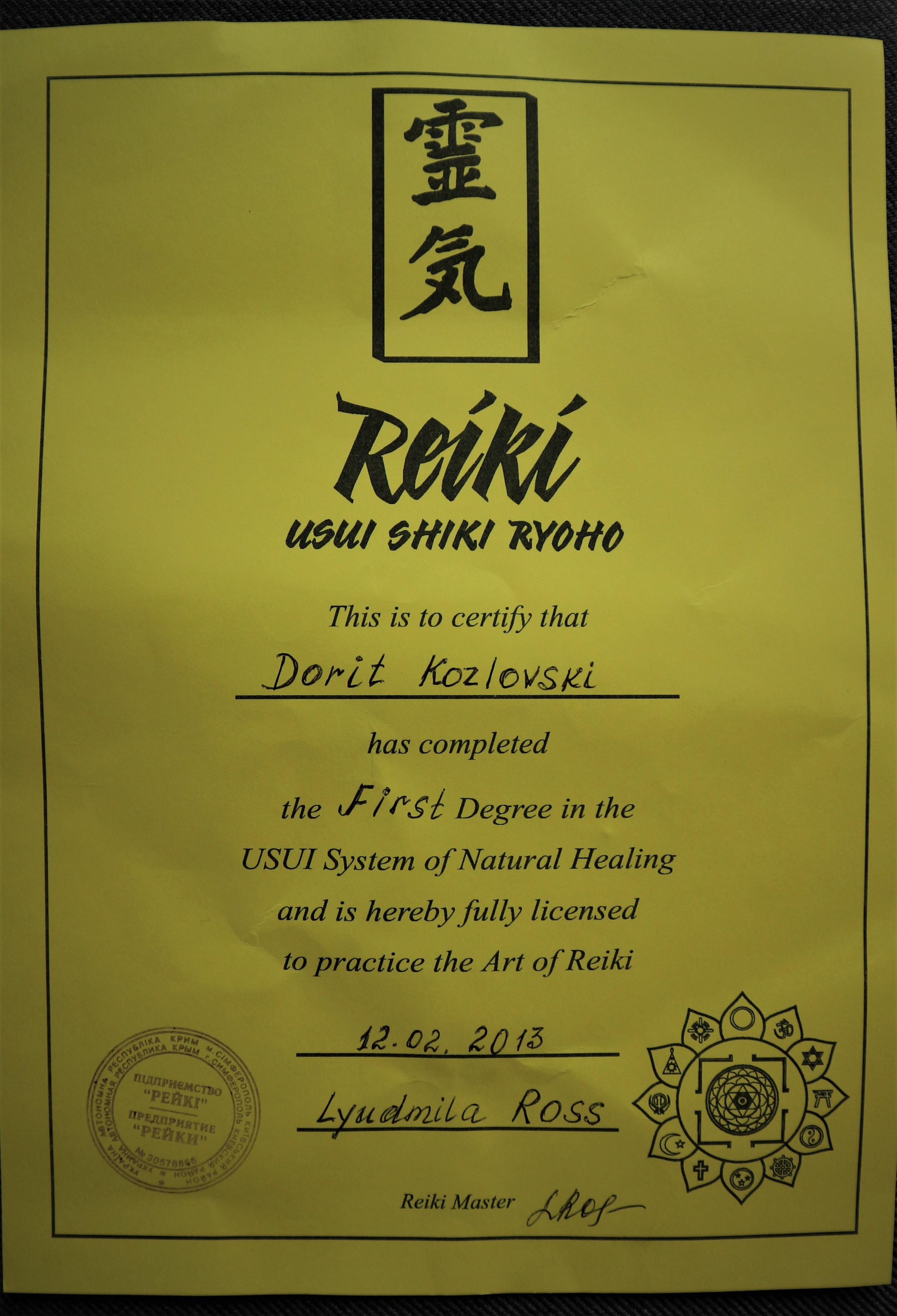 Hands-On Reiki Treatment 90 Minutes