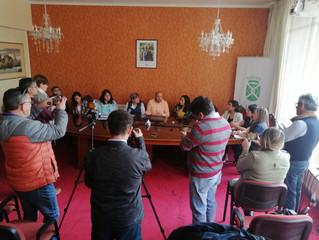 Alcalde Pinuer y autoridades de Salud dan a conocer medidas comunales contra el Coronavirus