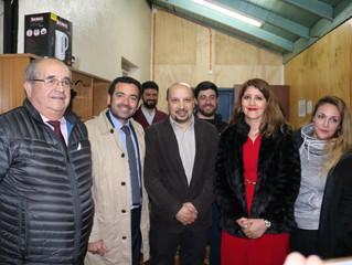 Alcalde y subsecretario de Servicios Sociales visitaron a usuarios de Albergue Transitorio Noche Dig