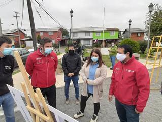 Comenzaron obras para construir multicancha techada en barrio Alberto Daiber