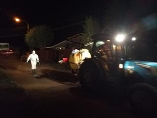 De cuatro a seis horas duran trabajos nocturnos de sanitización