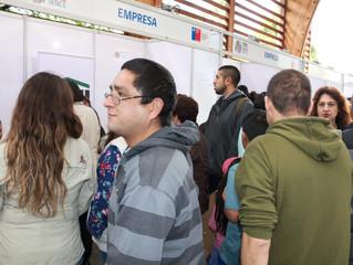 Exitosa Feria Laboral atrajo a 700 personas y a 20 empresas a la comuna