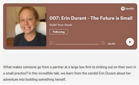 Erin Durant on Build Your Book Podcast