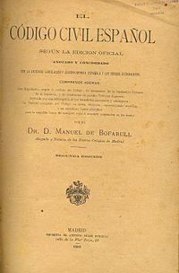 El Código Civil Español