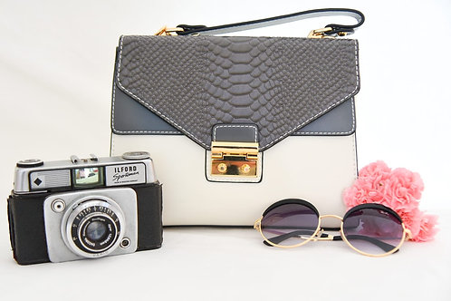 Grey/Cream Elodie Bag