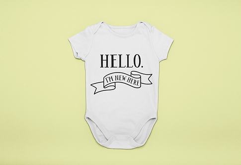 Hello, I'm New Here Baby Grow
