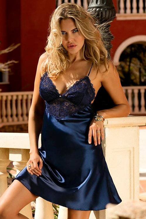 Navy Colleen Nightie