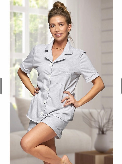 Grey Cotton Hannah Pyjamas