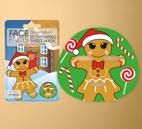 Gingerbread Sheet Face Mask