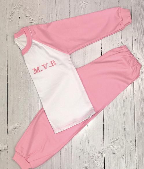 Pink Embroidered Children's Pyjamas