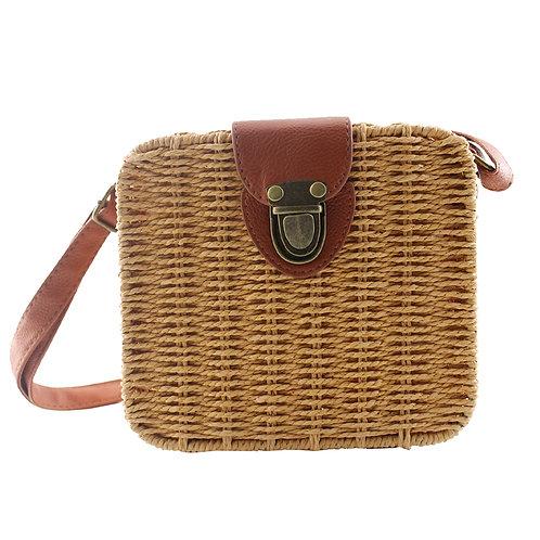 Oatmeal Alice Woven Handbag