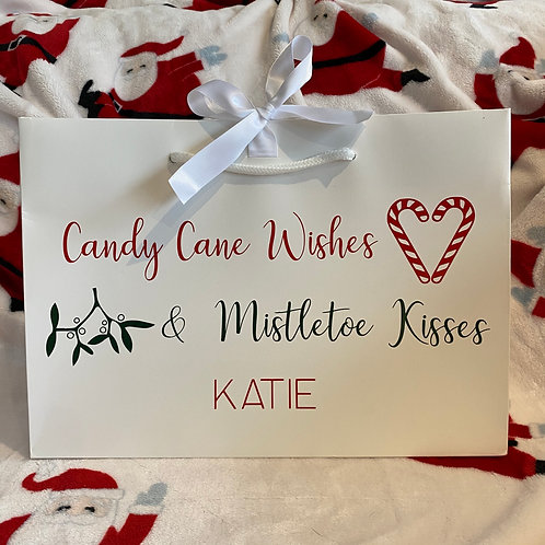 Candy Cane Wishes Gift Bag/Box