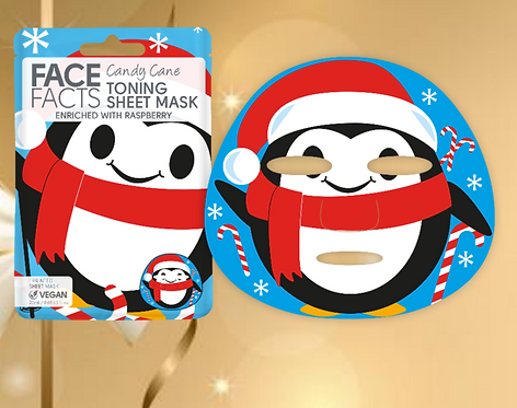 Candy Cane Sheet Face Mask