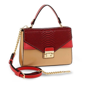 Burgundy/Nude Elodie Bag