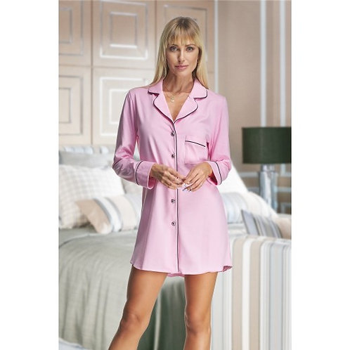 Holly Pink Cotton Night Shirt