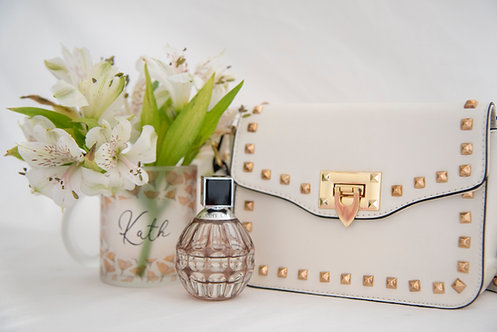 White Daisy Studded Bag