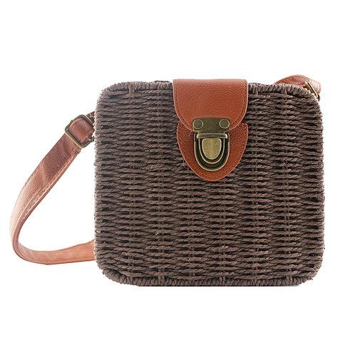 Brown Alice Woven Handbag