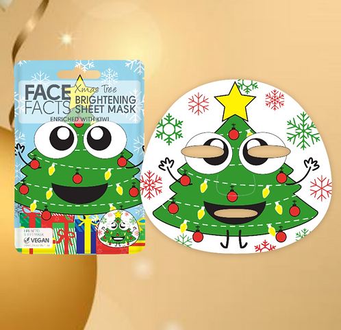 Christmas Tree Sheet Face Mask