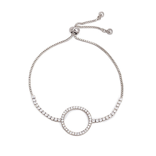 'Circle of Life' Platinum Plated Bracelet