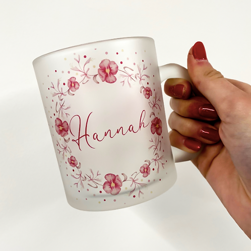 Primrose and Honeysuckle Wreath Personalised Mug