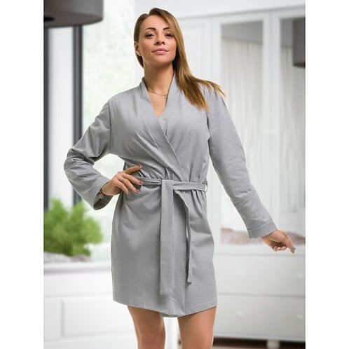 Grey Cotton Katie Robe