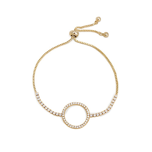 'Circle of Life' Gold Plated Bracelet