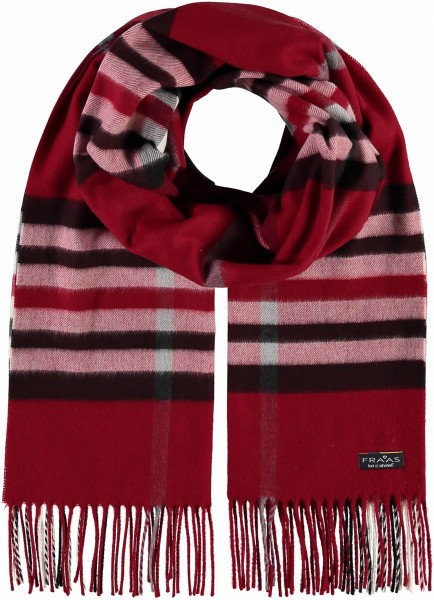 Red Check Wide Scarf