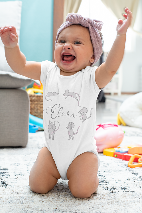 Personalised Little Mice Baby Grow
