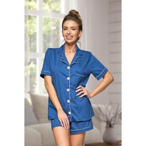 Blue Cotton Hannah Pyjamas