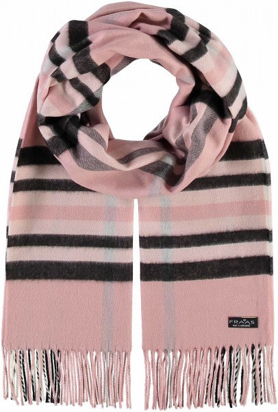 Pink Check Wide Scarf