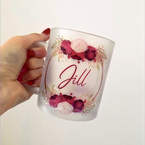 Peony Wreath Personalised Mug