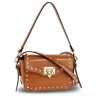 Tan Daisy Studded Bag