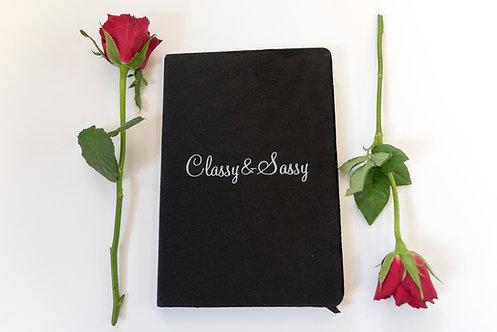 Classy and Sassy Velvet Notebook