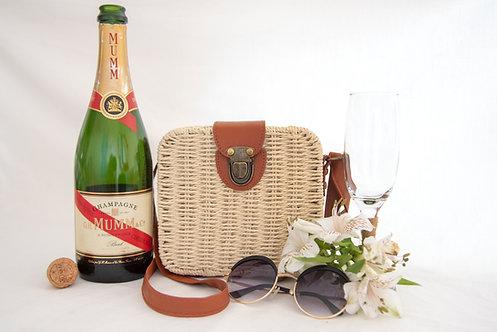 Cream Alice Woven Handbag