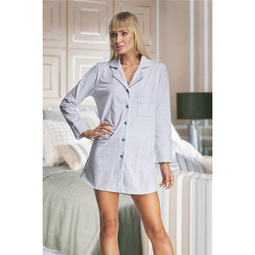 Holly Grey Cotton Night Shirt