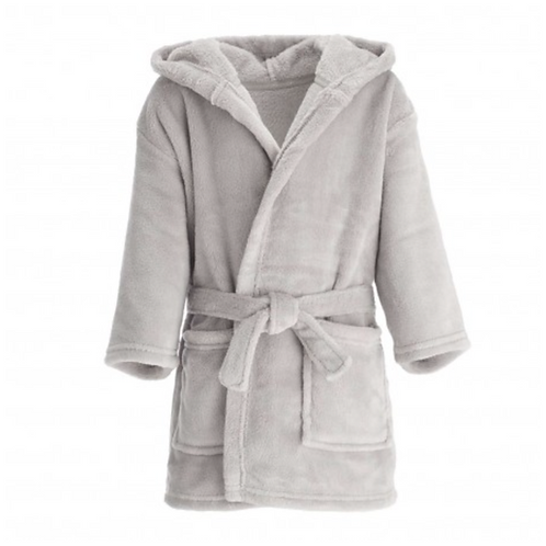 Grey Embroidered Dressing Gown