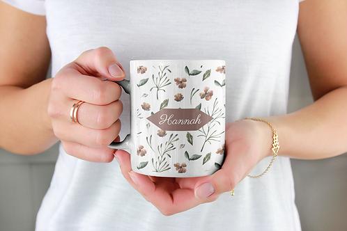 Autumn Floral Personalised Mug