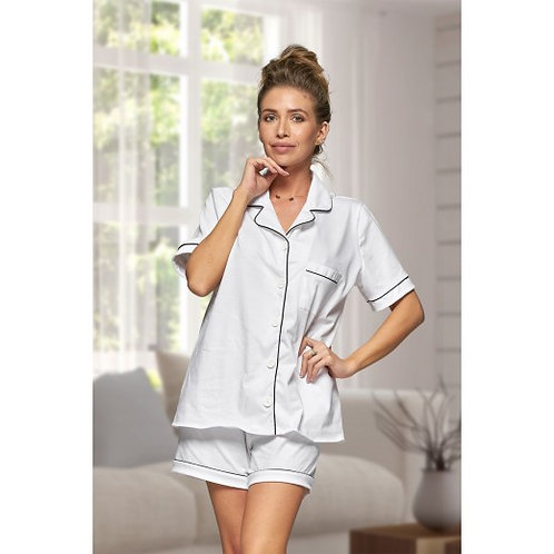White Cotton Hannah Pyjamas