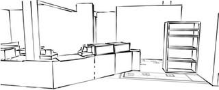 Architects Drawing, Coffeebar
