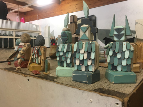 Sculptures by Sid Enck, 2017