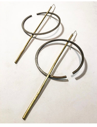 Piston Ring Earrings
