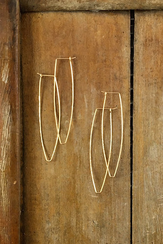 Long Gold Hoops