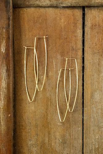 Long Gold Hoops