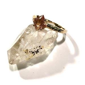 Oregon Sunstone Engagement Ring