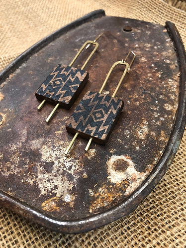 Block and Print Earrings