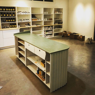 Corrugated Check-Out Stand, Vervain Collective